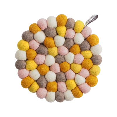 Round Bubble Lemonade Kitchen Trivet