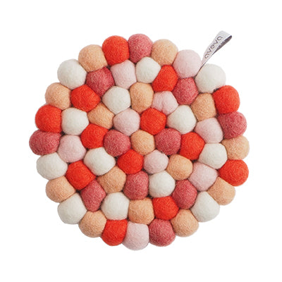 Round Bubble Reef, Coral, Kitchen Trivet