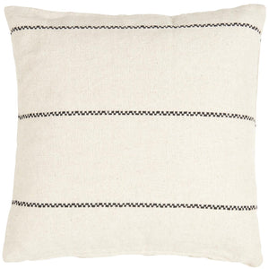 Cream & Black Striped Cushion