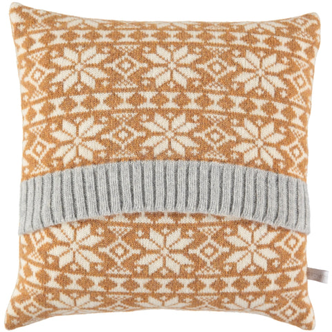 Fair isle knitted cushion Catherine Tough