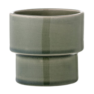 Green Crackle Glaze Plant Pot