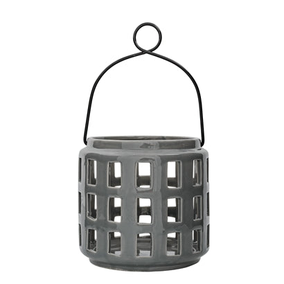 Small Grey Ceramic Lantern