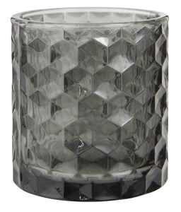 Grey Glass Votive / Tealight Holder