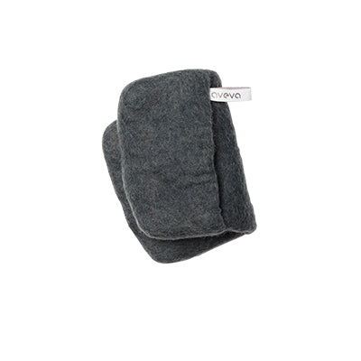 Felted Wool Dark Grey Pot Holder / Oven Mitt