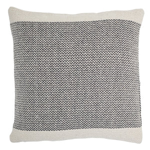 Woven herringbone cushion