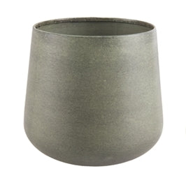 Large Green Steel Plant pot