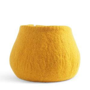 Large Felted Wool Mustard Plant Pot