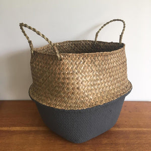 Large Belly Basket with Grey Bottom