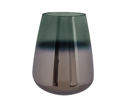 Green Oiled Glass Vase