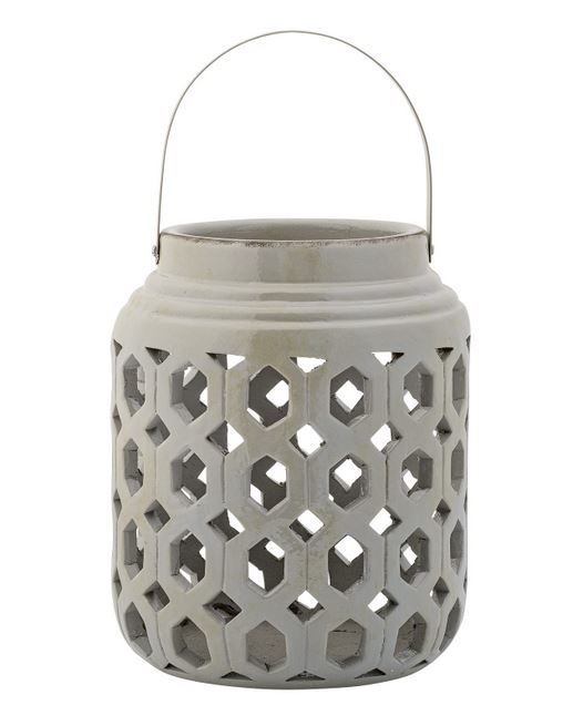 Large Grey Ceramic Lantern