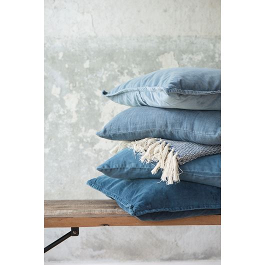 Light Blue Soft Velvet  Cushion