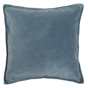 Light blue velvet cushion