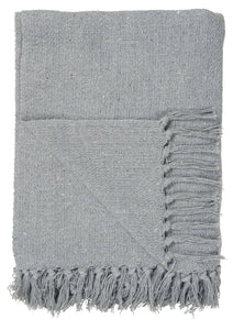 Light Blue / Grey Woven Design Blanket