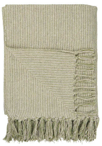Light Green Woven Design Blanket