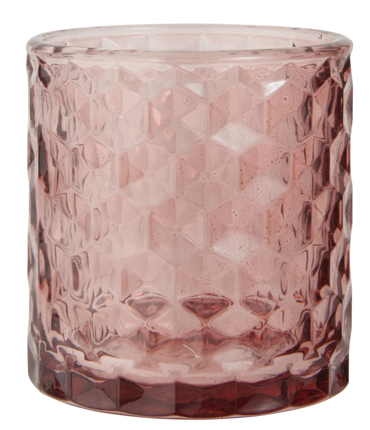 Mauve Glass Votive / Tealight Holder