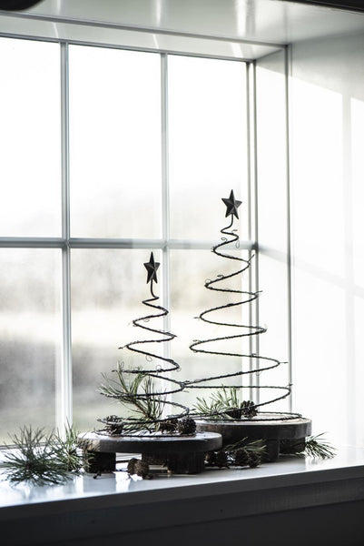 Small Metal Christmas Tree Decoration