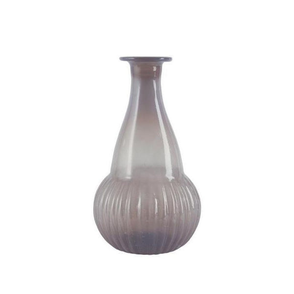 Milky Mauve Recycled Glass Bud Vase