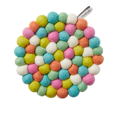 Round Multi Coloured Kitchen Trivet