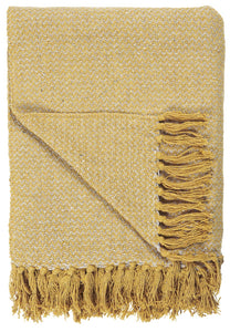 Ochre Yellow Woven Design Blanket