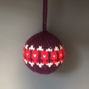 Knitted Christmas Decoration, Purple Tulip - Made to Order