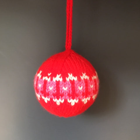 Knitted Christmas Decoration, Red Tulip - Made to Order