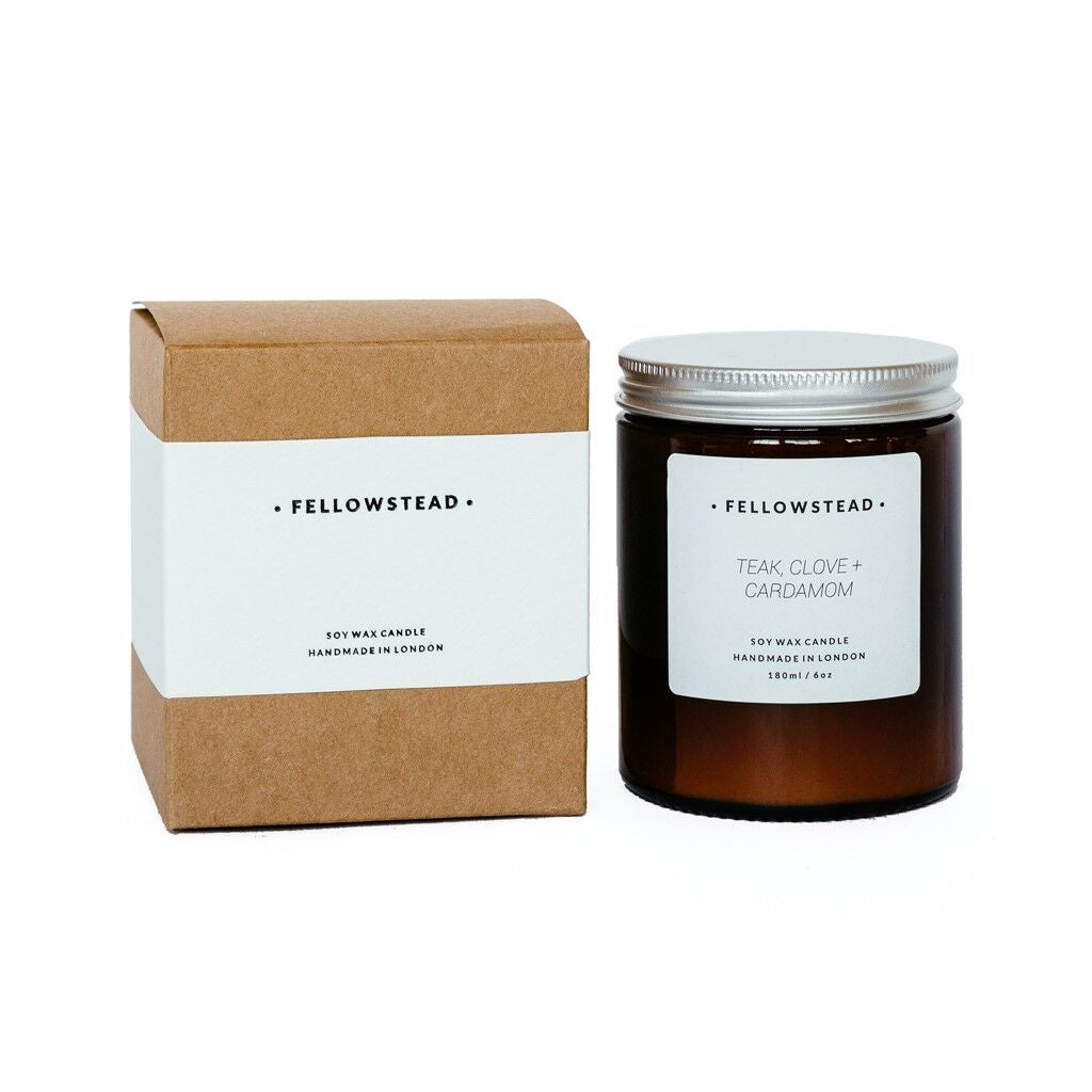 Luxury Teak, Clove + Cardamom Candle - Handmade in the UK