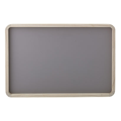 Grey wooden tray