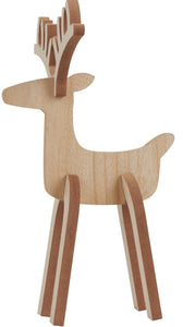 Wooden Reindeer Decoration