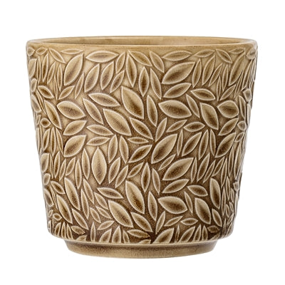 Yellow Leaf Patterned Plant Pot