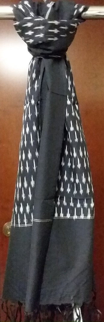 Classic 'Almost Black' Ikat Scarf