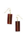 Astrid Earrings - Burgundy