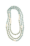 Colorblock Rope Necklace - Milky Green/Ether