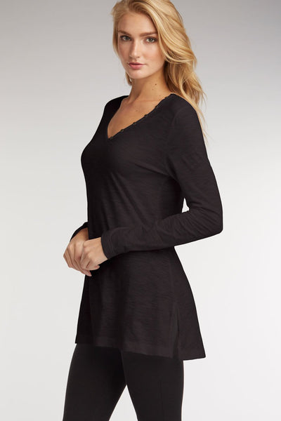 V-Neck Slub Tunic