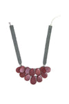Lina Necklace - Burgundy