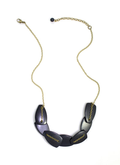 Scattered Pebble Necklace - Navy