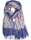 Denim & Orange Ikat Scarf
