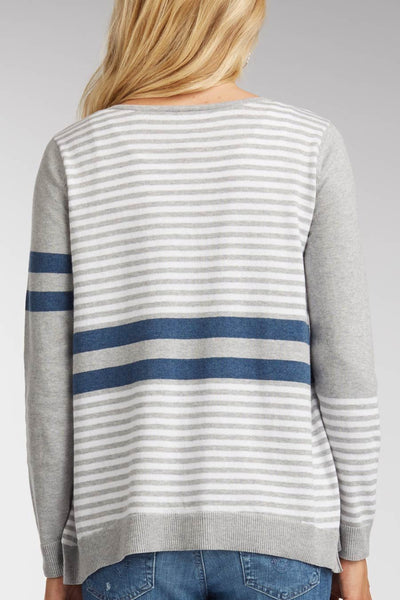 Stripe Zip Caridgan