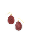 Lina Earrings - Burgundy