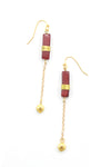 Madison Earrings - Burgundy