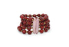 Waterfall Bracelet - Burgundy