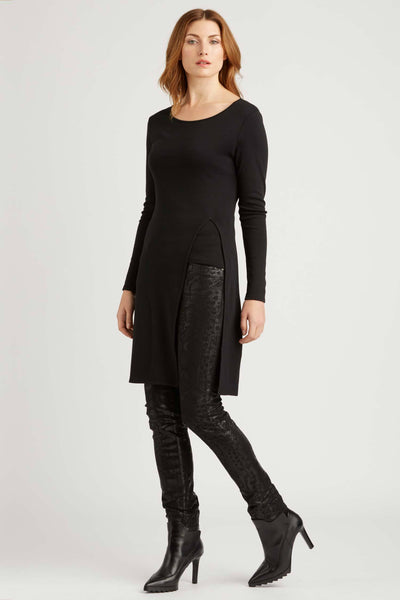 Side Slit Tunic - Black