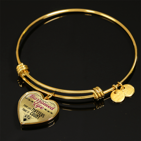 Borrowed Life Inspirational Quote Bangle