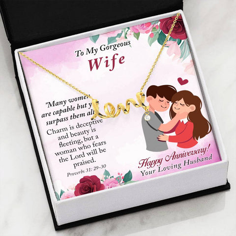 Image of Borrowed Life Scripted Love Necklace