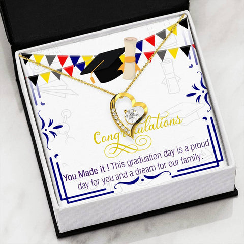 Graduation Heart Pendant