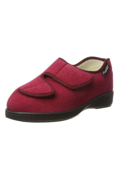 Adjustable Slippers for Women - Burgundy | Lacy | Adaptive Shoes by Ovidis