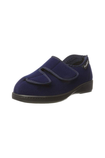 Adjustable Slippers for Men - Navy | Athos | Adaptive Shoes by Ovidis