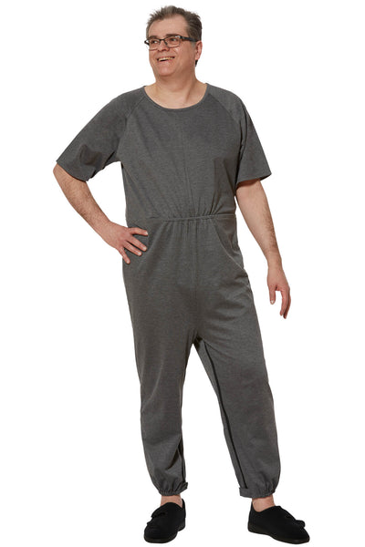 Anti-Strip Jumpsuit for Men - Grey | Bobby | Adaptive Clothing by Ovidis
