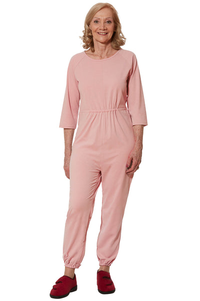 Anti-Strip Jumpsuit for Women - Pink | Carrie | Adaptive Clothing by Ovidis