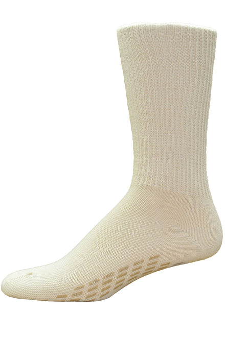 Simcan Anti-Slip Socks - Beige | SureSteps | Adaptive Clothing by Ovidis
