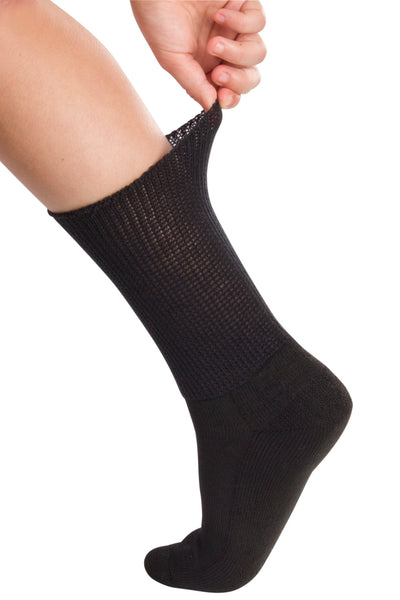 Full Freedom Mild Compression Socks - Black | Adaptive Clothing by Ovidis